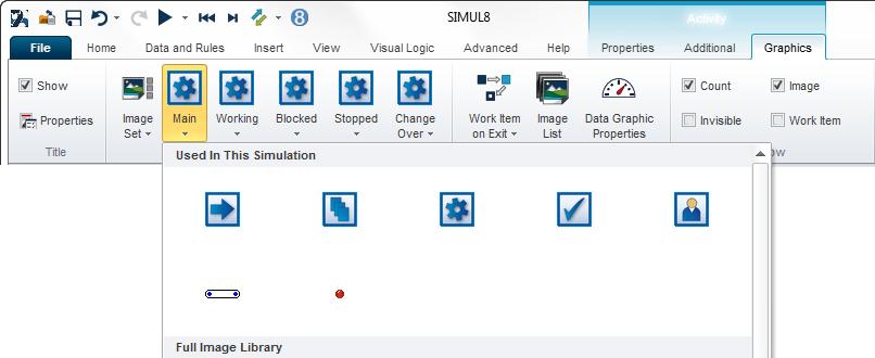 SIMUL8 Graphics Tab