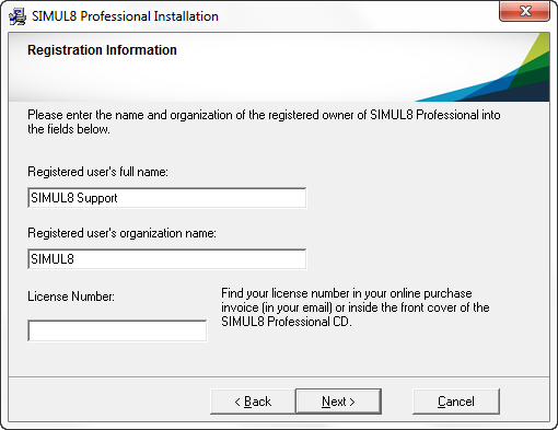 Remember to include the dashes (-) when entering your license number.